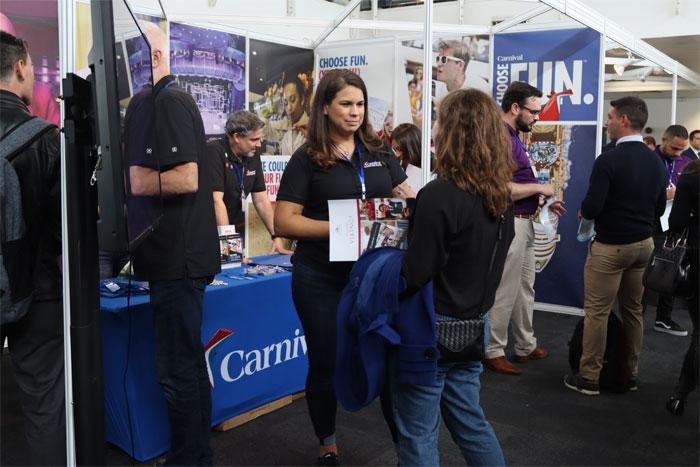 Carnival Cruise Line at Cruise Job Fair in London in June 2019